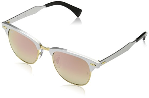 Ray-Ban CLUBMASTER ALUMINUM - BRUSCHED SILVER Frame COPPER FLASH GRADIENT Lenses 49mm - Clubmaster 3507