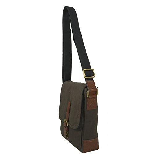 Fossil Davis City Bag Braun Herren Umhängetasche Schultertasche Umhänge Schulter Tasche Taschen Messenger Bag Canvas