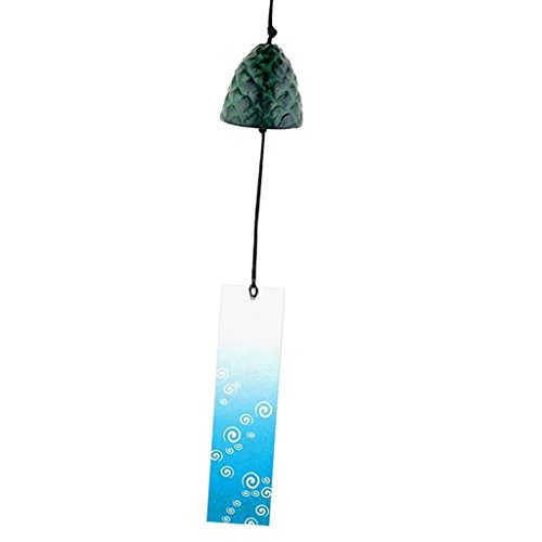Baoblaze Traditional Japanese Iwachu Cast Iron Bell Wind Chimes Patio Decoration - 13 ()