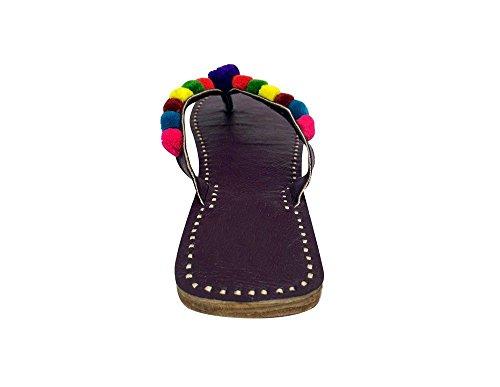Khussa Tradizionale Step N Punjabi Jutti Mojari Sandle Donne Chappal Us Style wwOxTq0
