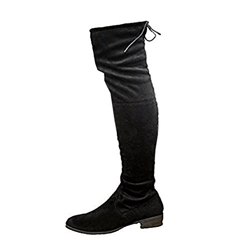 CORE COLLECTION Asher, Damen Stiefel & Stiefeletten schwarze Velourslederoptik