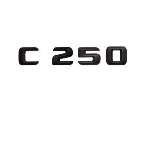 Tuxo BlackC250 Letters Trunk Emblem Sticker for Mercedes C Class C250 Emblem