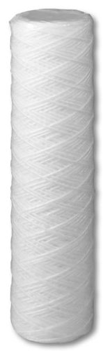 Genesis Water Technologies GWT-PE-10P-1 Polyester String-Wound Depth Replacement Sediment Filter Unit with One Micron Rating Measuring 10-Inch X 2.5-Inch