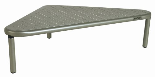 Corner Riser - Allsop Metal Art Corner Monitor Stand, holds 40 lbs, great for small offices - Silver (29191)