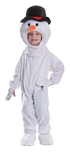 Bristol Novelty CC250 Snowman Plush Costume, Small, 116 cm, Approx Age 3 -5 Years, Snowman Plush 116cm