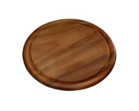6 Stück Frühstücksbrettchen Ø 25 cm Fleischteller Vesperbrettchen Brettchen Akazie Holz Brett Kesper # 20442