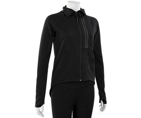 Nike Women's Tech Fleece Moto Cape Jacket, Black, Large by Nike
