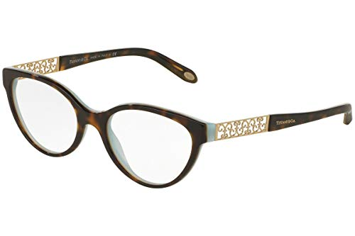 Tiffany Optical 0TF2129 Full Rim Oval Woman Sunglasses - Size 53 (Havana/Blue / Clear ()