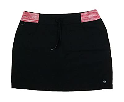 Tuff Womens Athletic Active Yoga Skort (Small, Black / Coral Space Dyed)