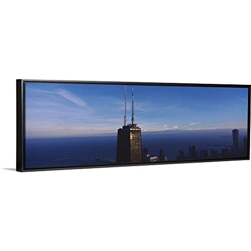 Floating Frame Premium Canvas with Black Frame Wall Art Print Entitled Skyscrapers in a City, Hancock Building, Chicago, Cook County, Illinois 36