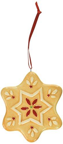 Spode Christmas Tree Ornament, Gingerbread Star