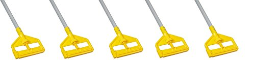 Rubbermaid Commercial Invader Side Gate Wet Mop Handle, 54-Inch, FGH145000000 (5 mop handles) by Rubbermaid Commercial Products
