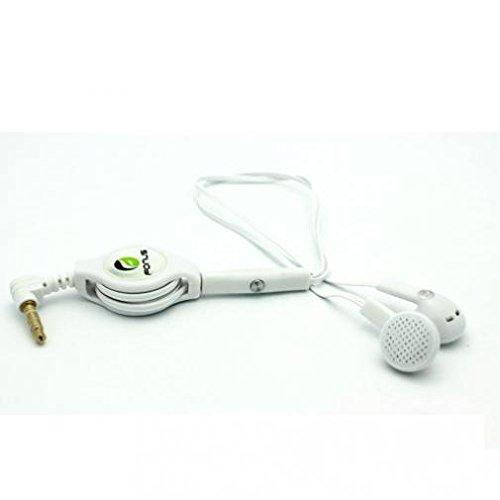 Illumina - 格納式ヘッドセット ハンズフリーマイク付き デュアルイヤホン 有線ヘッドフォン 3.5mm [ホワイト] Coolpad Illuminaに対応 B07MJHLZCF