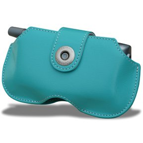 - Covertec Leather Horizontal Case for Palm Treo - Blue Lagoon