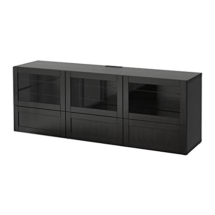 Terrific Amazon Com Ikea Tv Bench With Doors And Drawers Hanviken Gmtry Best Dining Table And Chair Ideas Images Gmtryco