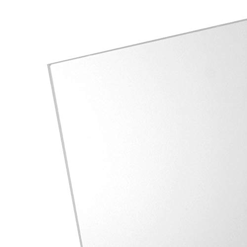 OPTIX Clear Acrylic Plastic Sheet - Non-Glare 0.05 Clear - 8 in. x 10 in. - 1 Pack - Picture Frame Glass Replacement