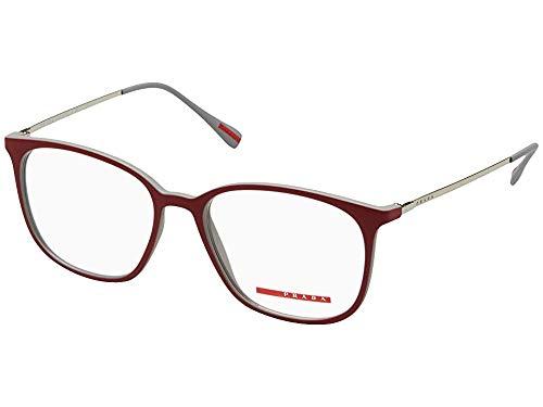 Prada Linea Rossa PS03IV - VY11O1 Eyeglasses Red / Grey Rubber ()