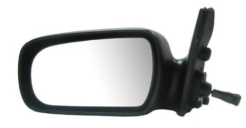 1991 Toyota Camry Mirror - 87-91 Fits Camry Manual Remote Side View Door Mirror Black Assembly Driver Left LH