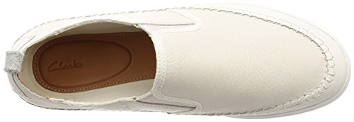 white Mocasines Leather Blanco Clarks Slip Hombre Para Kessell qxZvY1