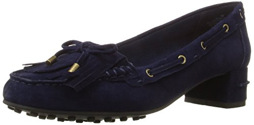 Nine West Women's Westby Suede Moccasin Navy