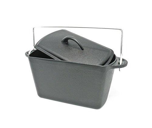 GURO Cast Iron Bread Potjie Poyke Pot Dutch Oven, 67OZ/2.1QT/2L