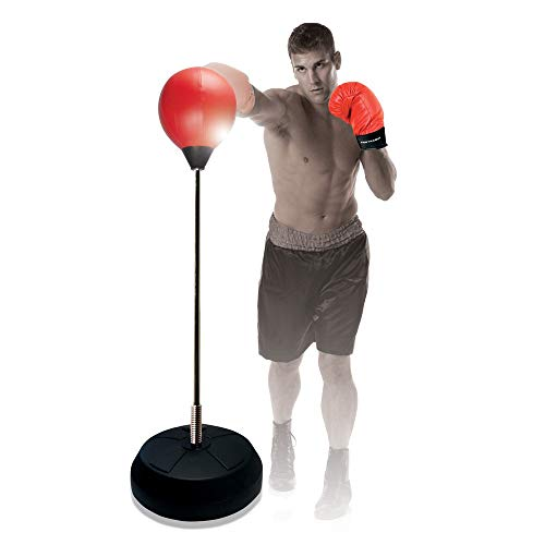 Protocol All-in-One Boxing Set | Punching Ball with Adjustable Height Stand That Withstands Tough Beatings| Includes Jump Rope, Comfortable Boxing Gloves, and Inflation Pump | Great Value by Protocol (Image #5)