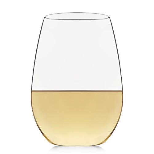 Libbey Signature Kentfield Stemless White Wine Glasses, Set of 4