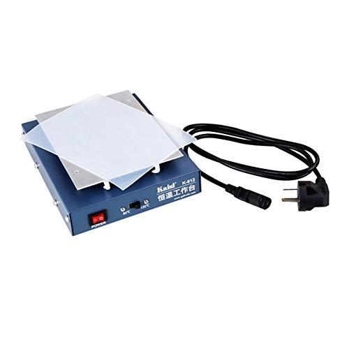 mesa de calefacci/ón de temperatura constante profesional Blanco y azul M/áquina de reparaci/ón de tel/éfonos con placa de calefacci/ón digital mesa de calefacci/ón tel/éfono m/óvil