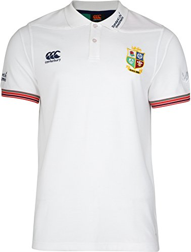 Canterbury British And Irish Lions Cotton Pique Training Polo Shirt - Large - White (Pique Rugby Cotton)