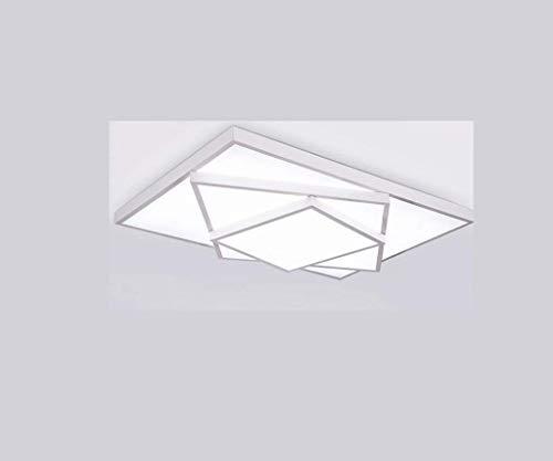 HBLJ Lámparas Led Lámparas para luces de techo cuadradas Sencillas de salón Cúpula de hierro Salas ...