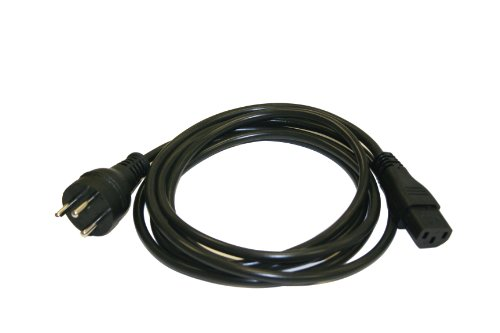 Interpower 86275010 Israeli Cord Set, SI-32 Plug Type, IEC 60320 C13 Connector Type, Black Plug Color, Black Cable Color, 10A Amperage, 250VAC Voltage, 2.5m Length by Interpower
