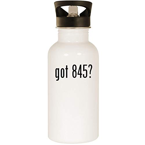 got 845? - Stainless Steel 20oz Road Ready Water Bottle, White ()