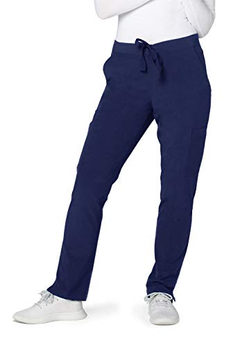 Adar Addition Scrubs for Women - Skinny Cargo Scrub Pants - A5104 - Rich Navy - S