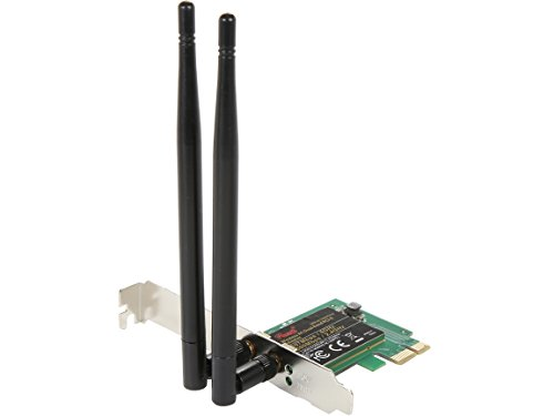 Rosewill WiFi Adapter/Wireless Adapter/Network Card, 802.11AC1200 Dual Band PCI-E Wireless Network Adapter, 2.4Ghz 300Mbps+ 5Ghz 867Mbps including Low-profile Bracket, Support Windows XP/7/8/8.1/10 by Rosewill