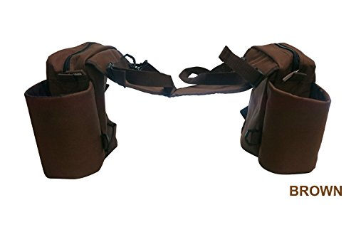 Barn & Stable Trail Saddle Bag 600D with Pockets and Zipper ()