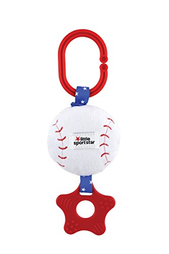 Plush Baseball (Little Sport Star Zippee with Crinkle & Teether Baseball Plush)