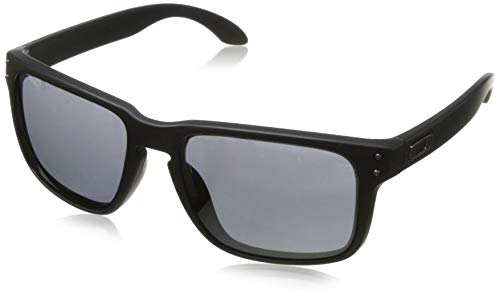 Oakley Men's OO9102 Holbrook Square Sunglasses, Matte Black/Prizm Grey, 57 ()