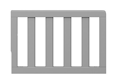 Graco Toddler GuardRail, Pebble Gray, Safety Guard Rail for Convertible Crib & Toddler Bed, Pebble Grey