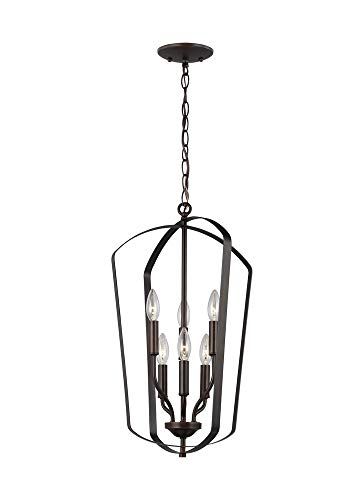 Sea Gull 5134906-782 Romee Pendant, 6-Light 360 Total Watts, Heirloom Bronze