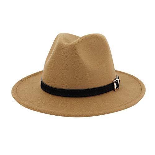 Men & Women Vintage Wide Hat with Belt Buckle Adjustable Outbacks Hats(Khaki) - http://coolthings.us