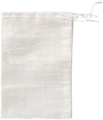 100 PCS 4x6 Cotton Muslin Drawstring Reusable Bags Packing Bath Soap Herbs Tea