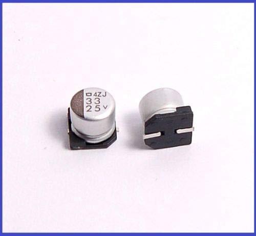 (10pcs) 33uf 25v SMD Aluminum Electrolytic Capacitors 6x6mm
