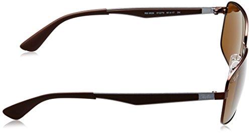 Dark Brown cuadrada 73 sol Ray marrón color 61 Marrón RB3529 de 012 en Ban de metal Matte Gafas xUUw7YaqT