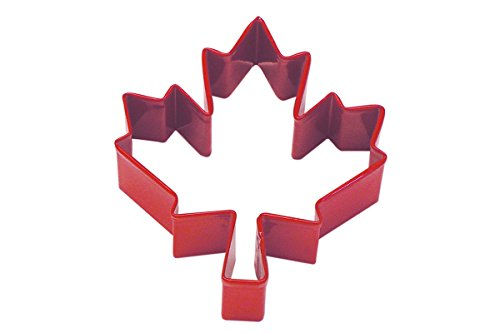 CybrTrayd Maple Leaf Canadian National Cookie Cutter, Red