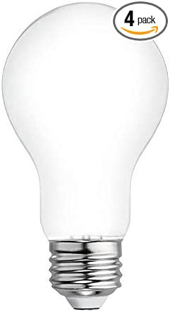 GE Refresh 4-Pack 60 W Equivalent Dimmable 5000k Daylight A19 LED Light Fixture