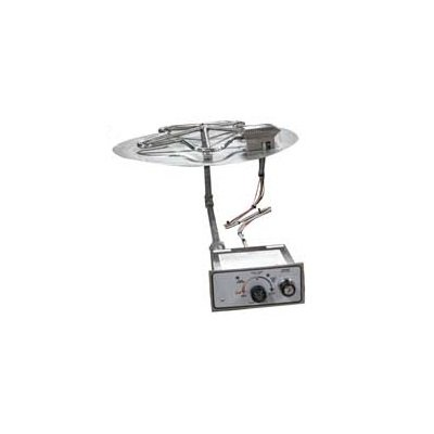 HPC Manual Spark Flame Sensing Fire Pit Kit, 18 Inch Penta Burner, 24 Inch Flat Pan, Propane