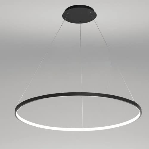 LightInTheBox Acrylic Chandelier Modern 80cm Cut LED Ring Pendant Light with Oval 1 Ring Max 40W Chrome Finish,Ceiling Light Fixture Black