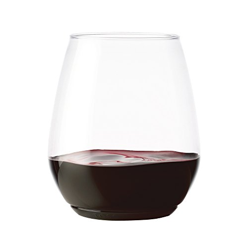 TOSSWARE 18oz Tumbler - recyclable wine plastic cup - SET OF 48 - stemless, shatterproof and BPA-free wine glasses