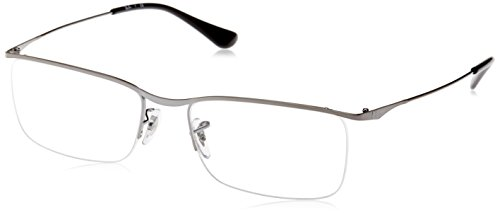 Ray-Ban Men's RX6370 Eyeglasses Gunmetal 55mm (Ray-ban 2502)