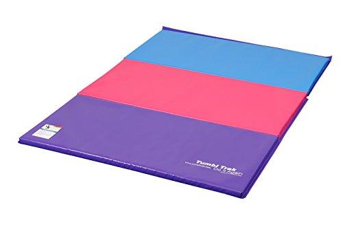 Tumbl Trak Folding Gymnastics Mat Bright Pastel 4 Ft X 6
